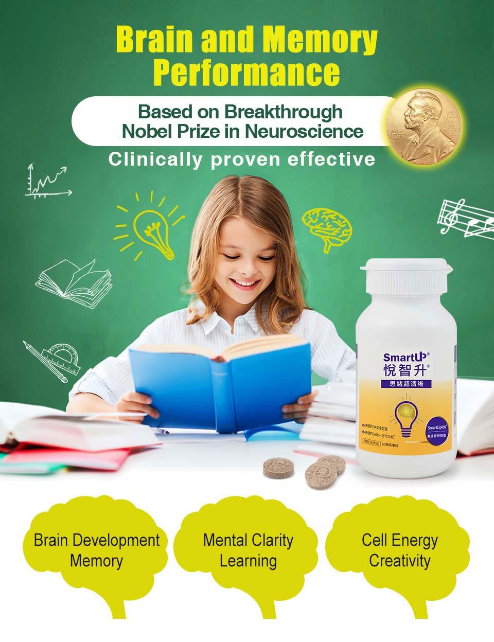 悅智升補聰腦部所需營養,增強智力