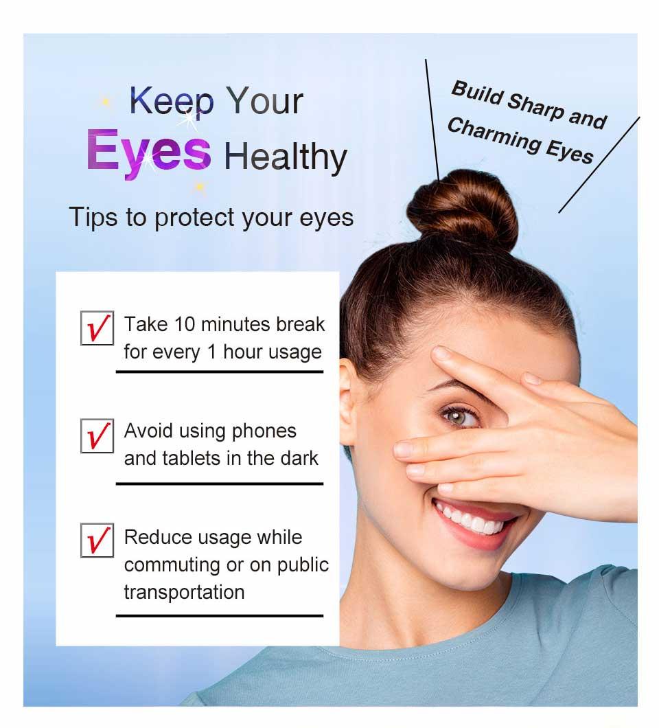 有效防止藍光、避免眼睛傷害