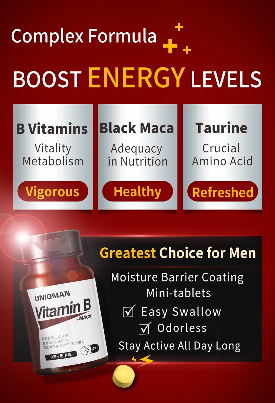 Vitamin B works to increase vitaliy of body