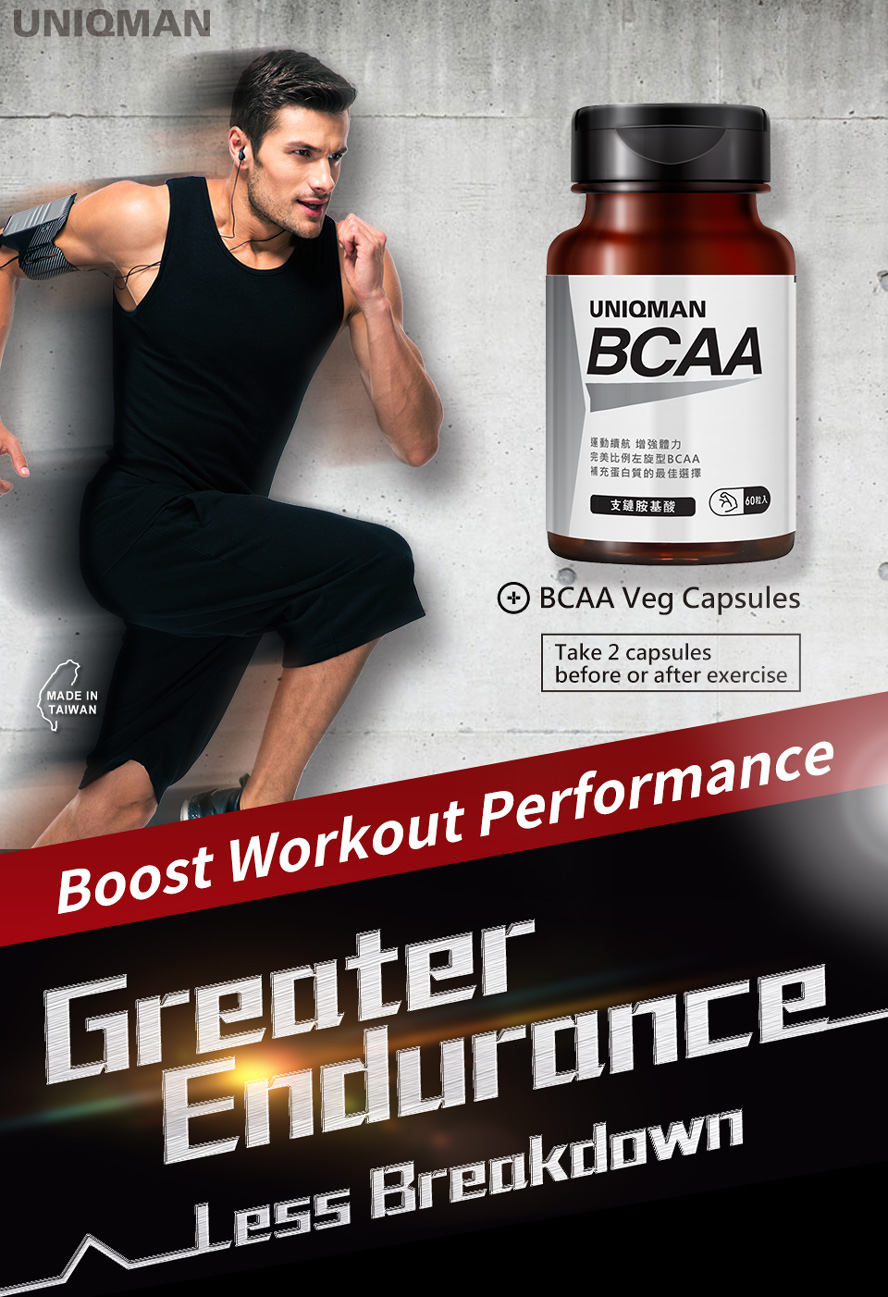 UNIQMAN BCAA is of a special importance to athletes and bodybuilders.
