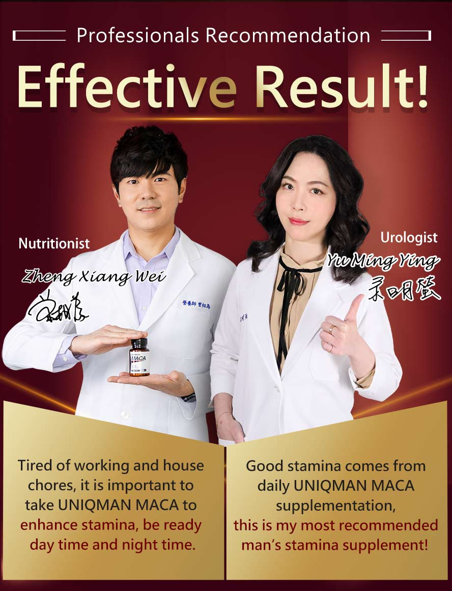 UNIQMAN MACA contains antler velvet to replenish vitality and stamina