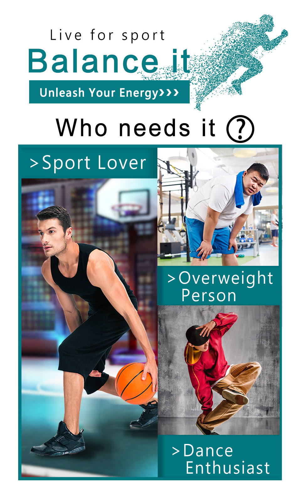 Recommend to sport lover, dance enthusiast and overweight person