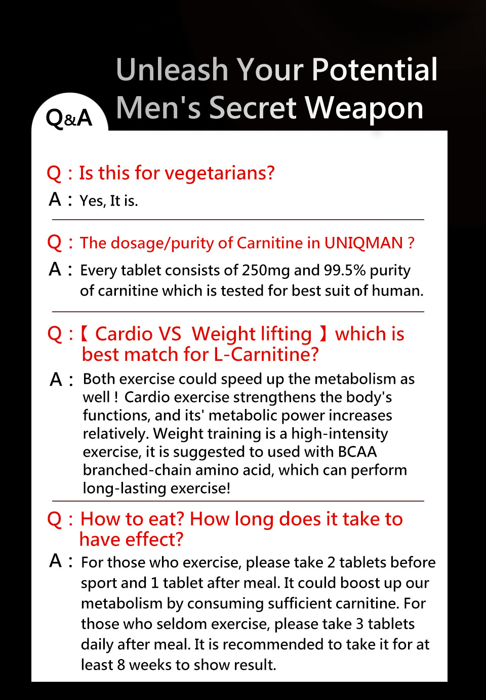 UNIQMAN L-carnitine helps you weight loss