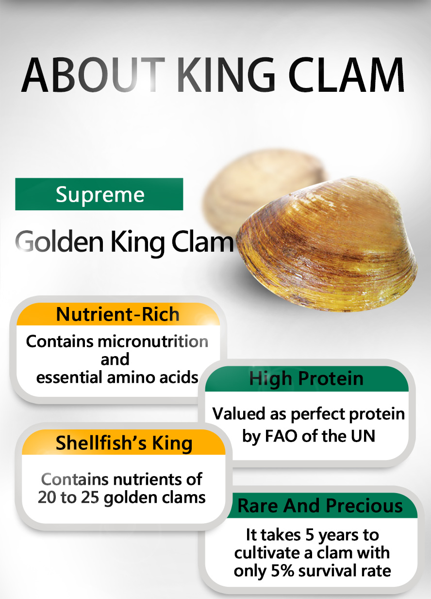 UNIQMAN King Clam is the best supplement for regimen