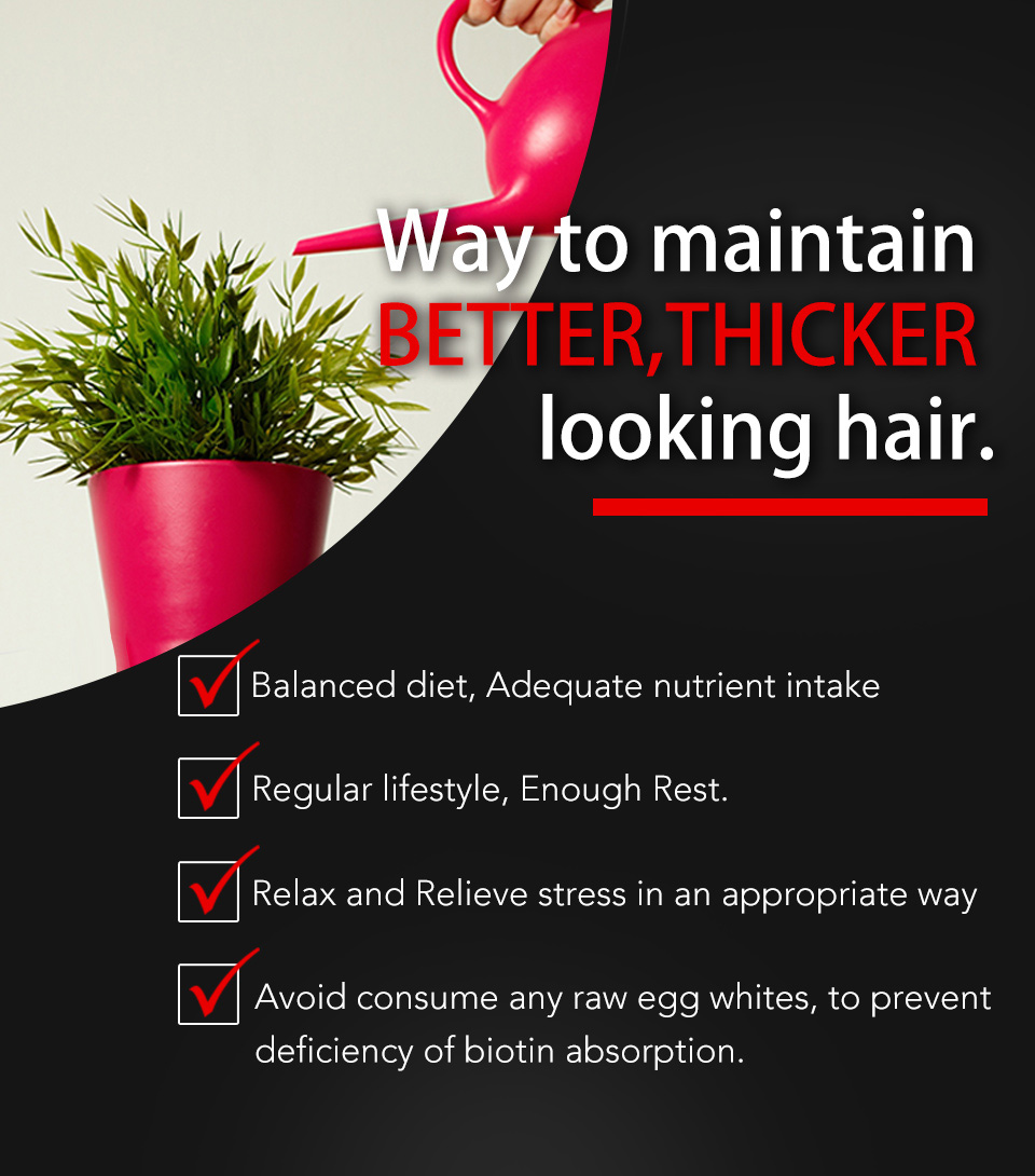 UNIQMAN Biotin contains patented MSM to maintain human hair growth