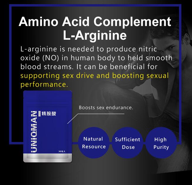L-Arginine regulates men's physiological function