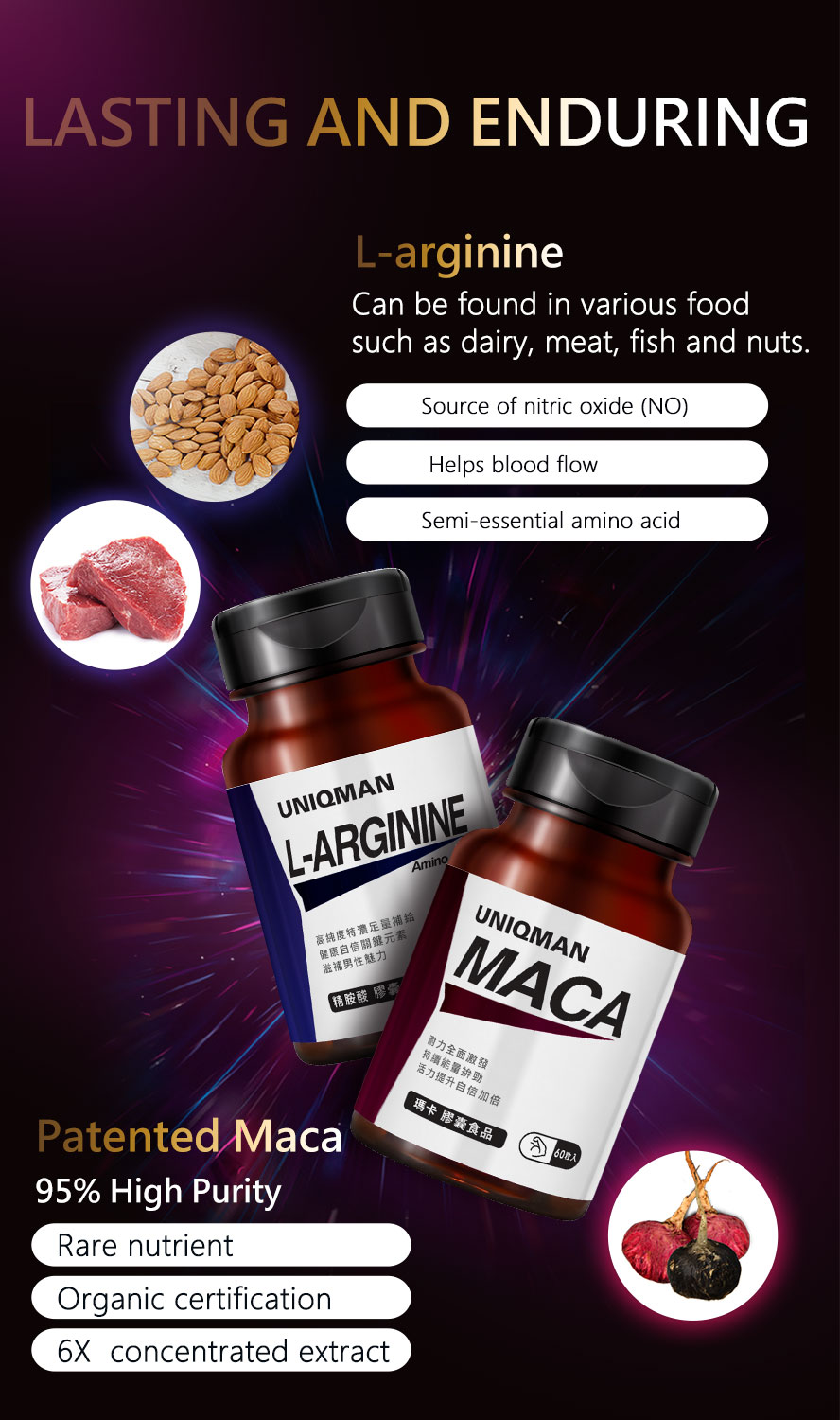 Larginine can be found in blood vessels and brain