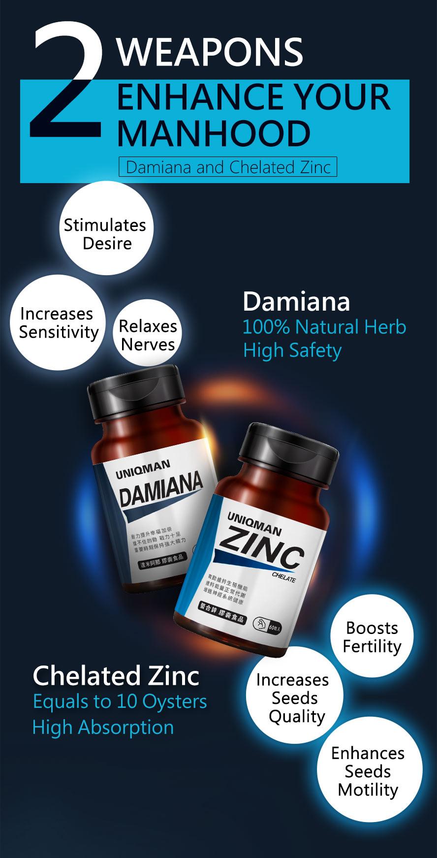 UNIQMAN Damiana is 100% natural herbal aphrodisiac