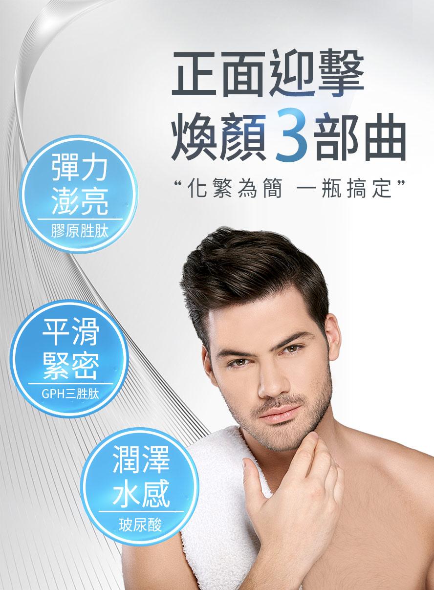 男性保養只要靠UNIQMAN淨能膠原,還原青春肌膚