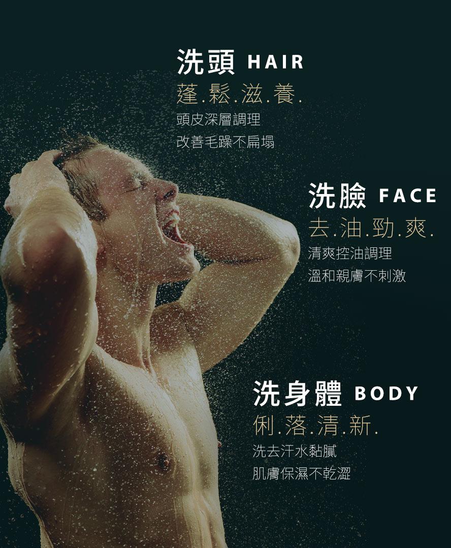 專業多重配方,從頭洗到腳,選用生物素幫助滋養頭皮