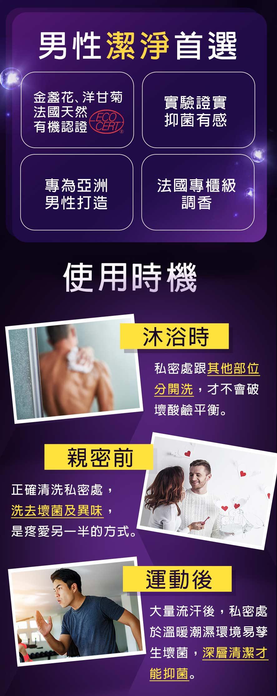 專為亞洲男性開發,實驗認證抑菌有感,專櫃級調香