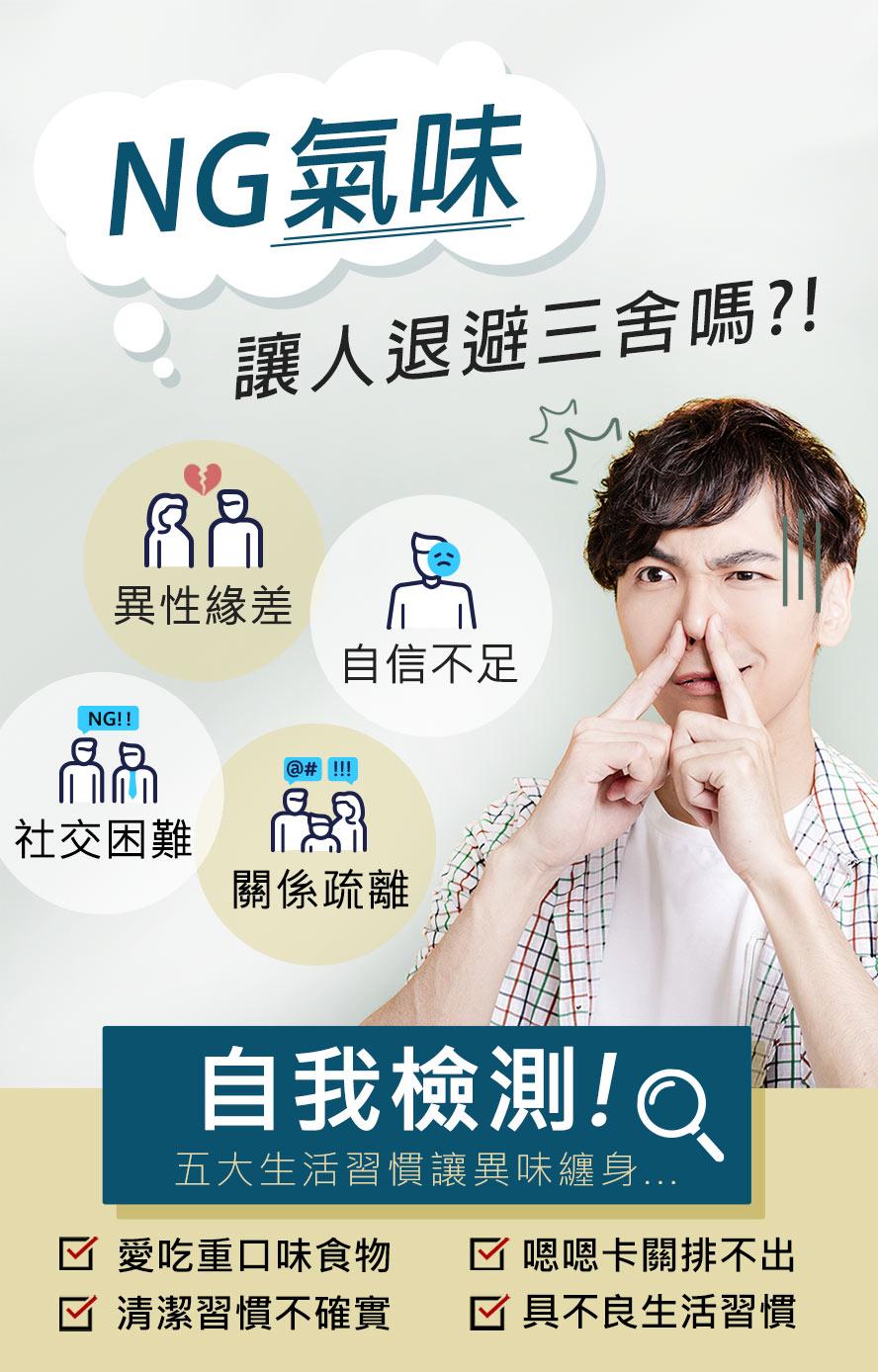 男性常因為體味造成困擾,有淨味膠囊讓互動更親近