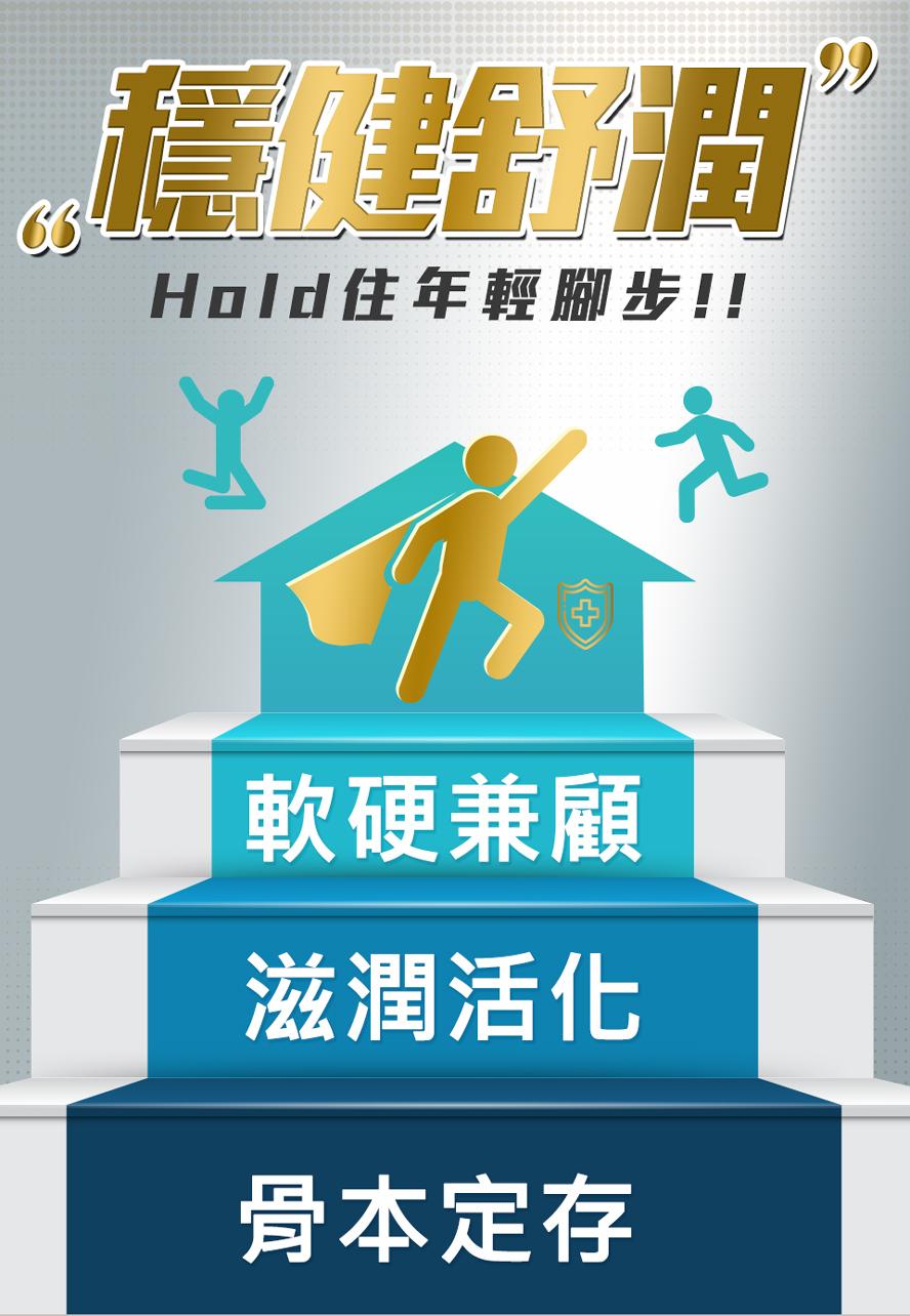足量鈣質、守護關節健康,留住年輕腳步,靈活舒適好靈活