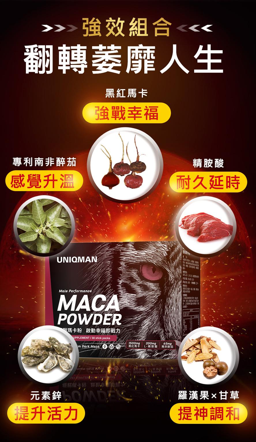 馬卡含有多種營養成分,可以幫助男性加強戰力