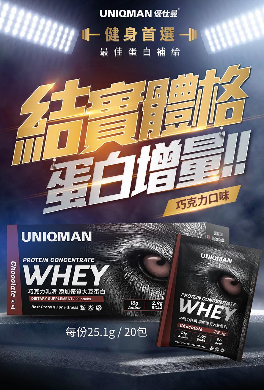 運動族健身增肌就喝乳清,好喝推薦UNIQMAN乳清蛋白粉
