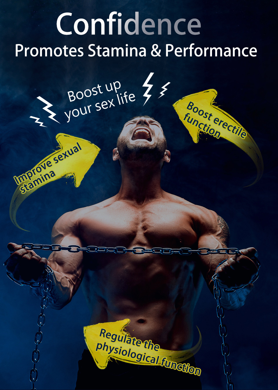 男性食用精胺酸能幫助壯陽,體力增加促進健康,增強自信心