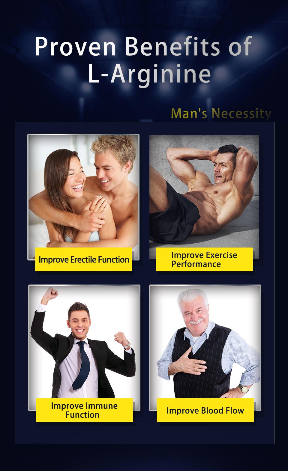 精胺酸幫助性行為更持久,增強運動體力,幫助心血管健康,是最佳男性保健食品